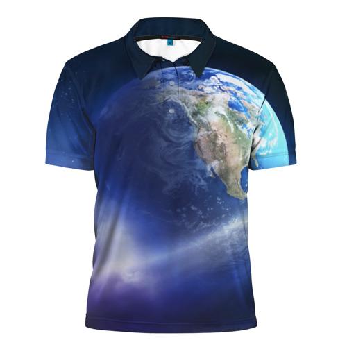 Мужская рубашка поло 3D Космос