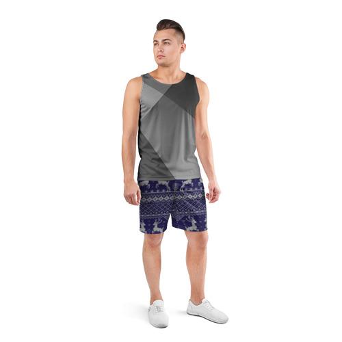 Мужские шорты 3D спортивные  Фото 04, Олени