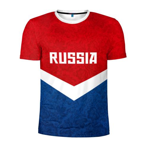Мужская футболка 3D спортивная Russia Team