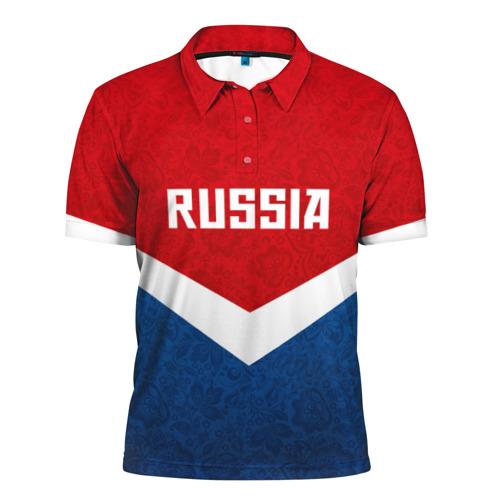 Мужская рубашка поло 3D Russia Team