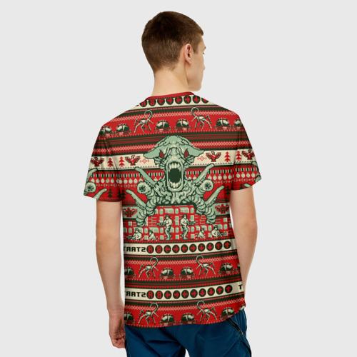 Мужская футболка 3D Contra Christmas
