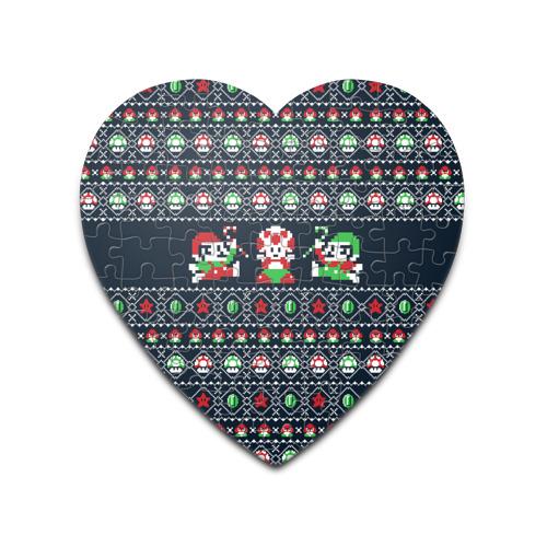 Пазл сердце 75 элементов  Фото 01, Mario Bros Christmas