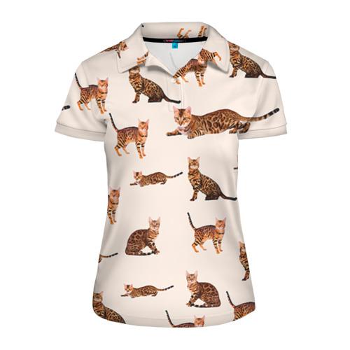 Женская рубашка поло 3D Котейки дольче 2