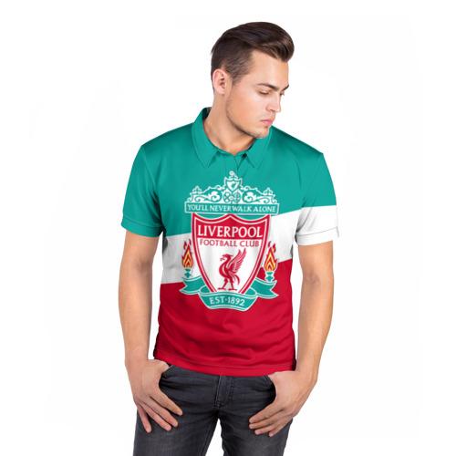 Мужская рубашка поло 3D  Фото 05, Ливерпуль