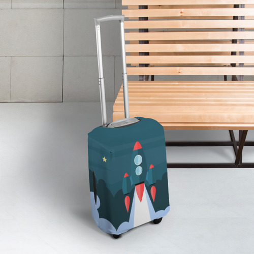 Чехол для чемодана 3D  Фото 03, Ракета