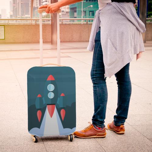 Чехол для чемодана 3D  Фото 04, Ракета