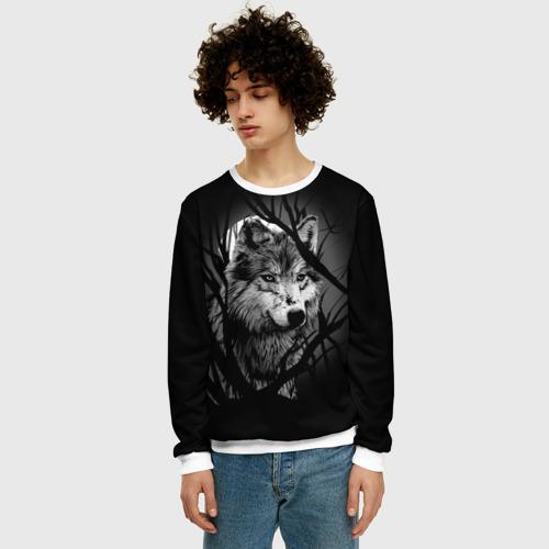 Мужской свитшот 3D Серый волк Фото 01