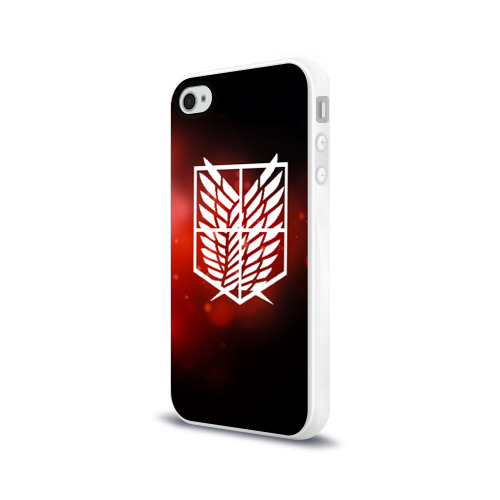 Чехол для Apple iPhone 4/4S силиконовый глянцевый Атака Фото 01