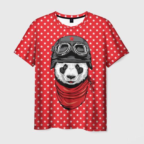 Мужская футболка 3D  Фото 01, Панда пилот