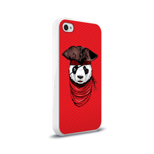 Чехол для Apple iPhone 4/4S силиконовый глянцевый  Фото 02, Панда пират