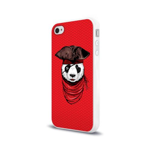 Чехол для Apple iPhone 4/4S силиконовый глянцевый  Фото 03, Панда пират