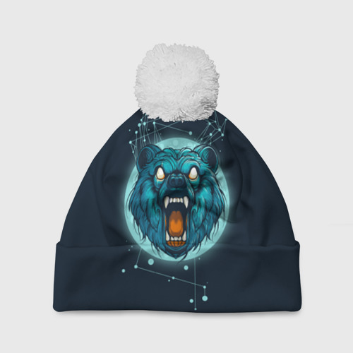 Шапка 3D c помпоном  Фото 01, Космический медведь