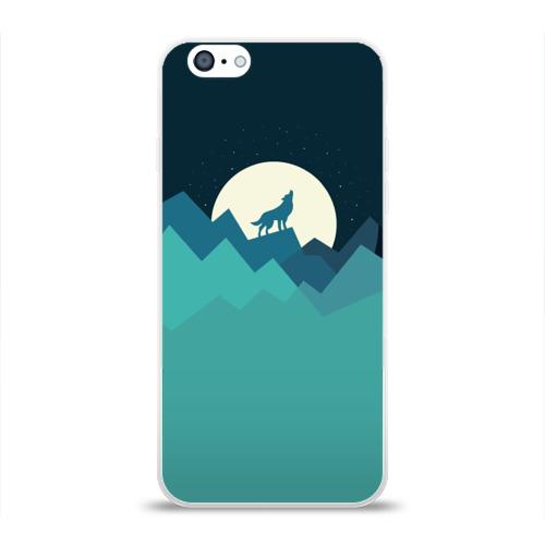 Чехол для Apple iPhone 6 силиконовый глянцевый  Фото 01, Воющий волк