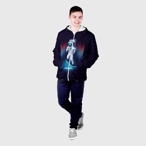 Мужская куртка 3D  Фото 03, Космический скейтбордист
