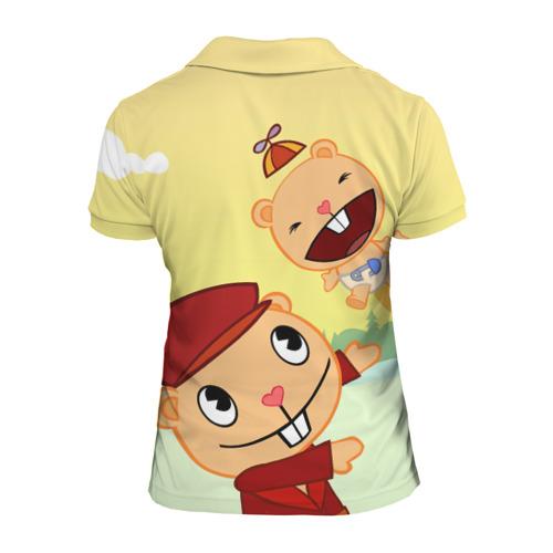 Женская рубашка поло 3D  Фото 02, Happy Tree Friends