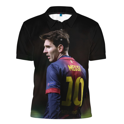 Мужская рубашка поло 3D  Фото 01, Месси