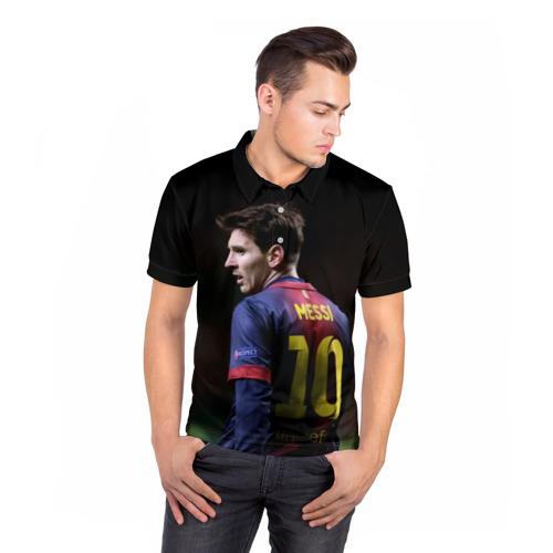 Мужская рубашка поло 3D  Фото 05, Месси