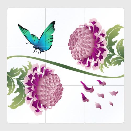 Магнитный плакат 3Х3 Японские хризантемы