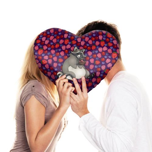 Подушка 3D сердце  Фото 03, Енотик сладкоежка