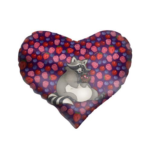 Подушка 3D сердце  Фото 01, Енотик сладкоежка
