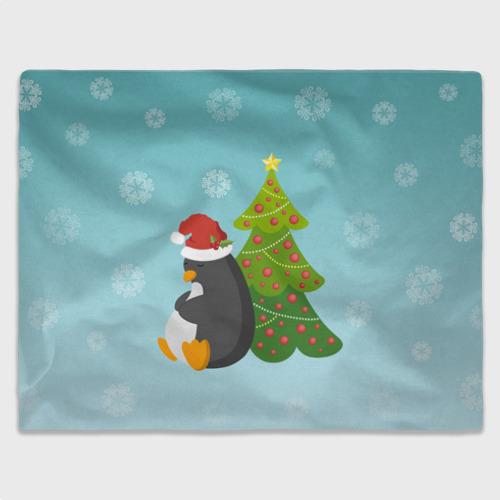 Плед 3D Новогодний пингвинчик Фото 01