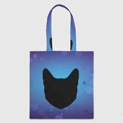 Силуэт черной кошки