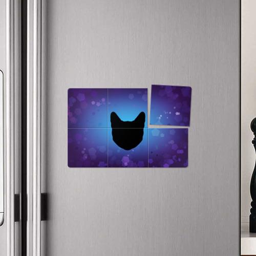 Магнитный плакат 3Х2  Фото 04, Силуэт черной кошки