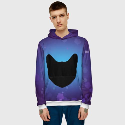 Мужская толстовка 3D  Фото 03, Силуэт черной кошки