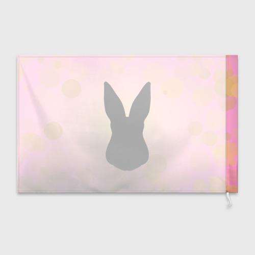 Флаг 3D  Фото 02, Силуэт зайчика