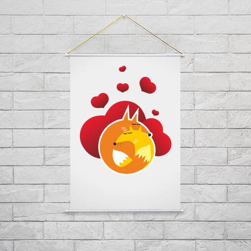 Тканевый плакат  Фото 02, Влюбленные лисы