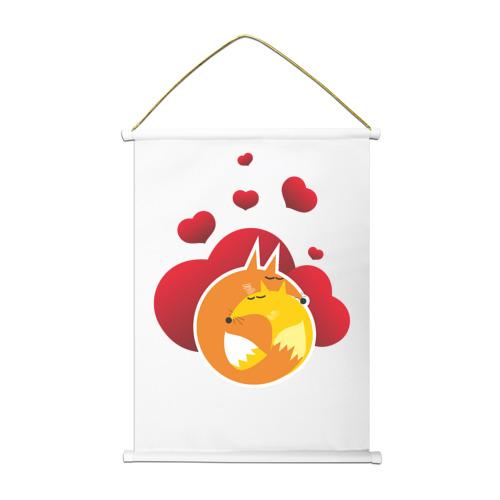 Тканевый плакат  Фото 01, Влюбленные лисы