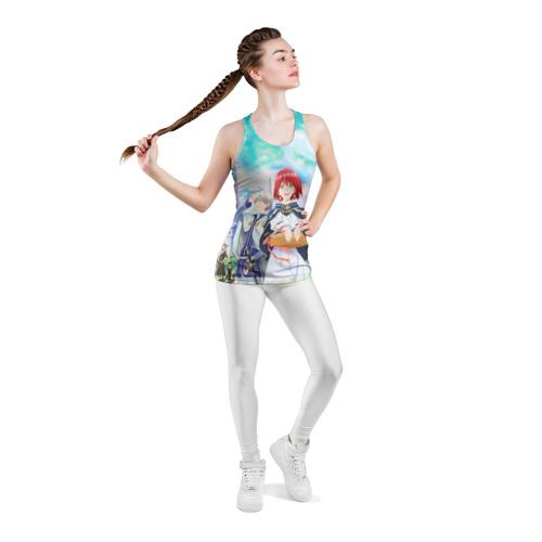 Женская майка 3D спортивная  Фото 05, Красноволосая принцесса Белоснежка