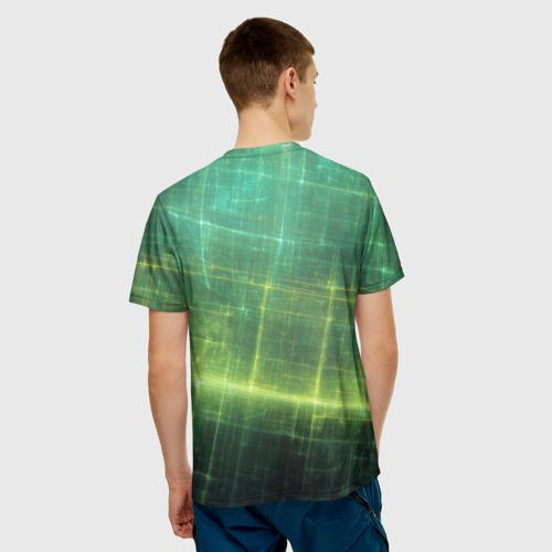 Мужская футболка 3D Цифровое пространство
