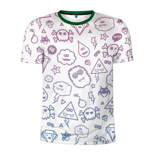Мужская футболка 3D спортивная Монстрики