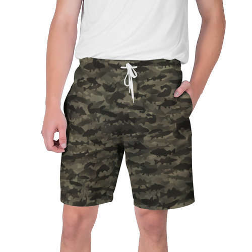 Мужские шорты 3D Камуфляж рыбака