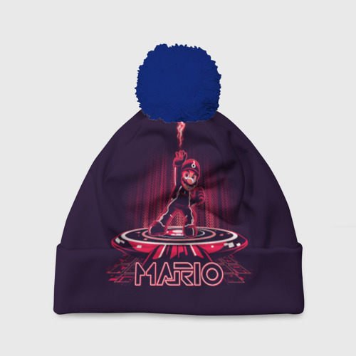 Шапка 3D c помпоном Mario Tron