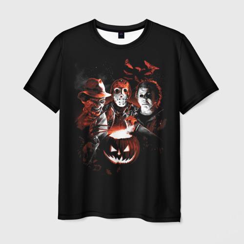Мужская футболка 3D Halloween Horror Team
