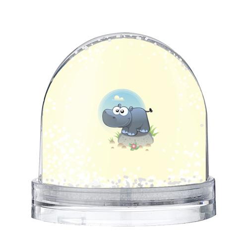 Водяной шар со снегом Бегемотик