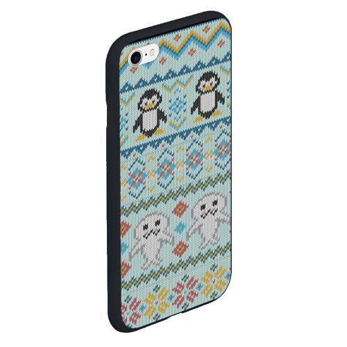 Чехол для iPhone 6Plus/6S Plus матовый Детский вязаный узор Фото 01