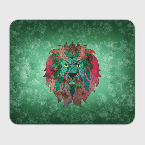 Коврик прямоугольный  Фото 01, Лев на зеленом фоне