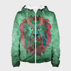 Лев на зеленом фоне