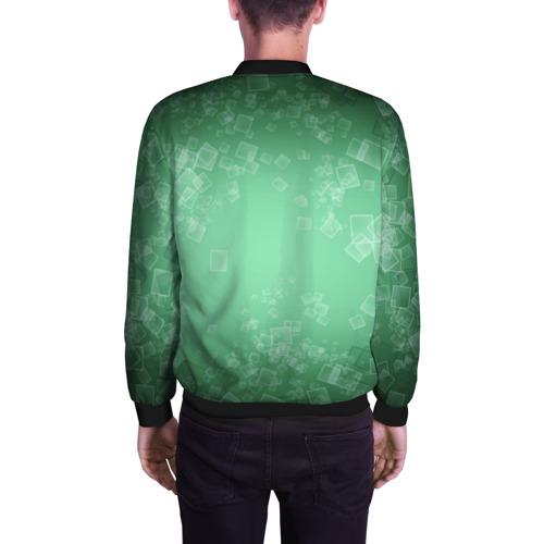 Мужской бомбер 3D  Фото 04, Лев на зеленом фоне
