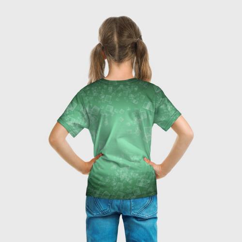 Детская футболка 3D  Фото 04, Лев на зеленом фоне