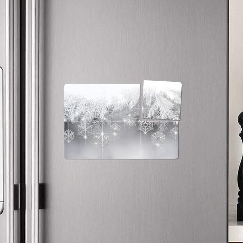 Магнитный плакат 3Х2  Фото 04, Snowflakes