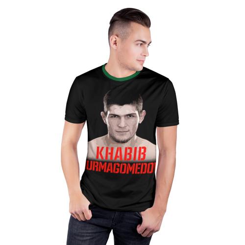 Мужская футболка 3D спортивная Хабиб Нурмагомедов Фото 01