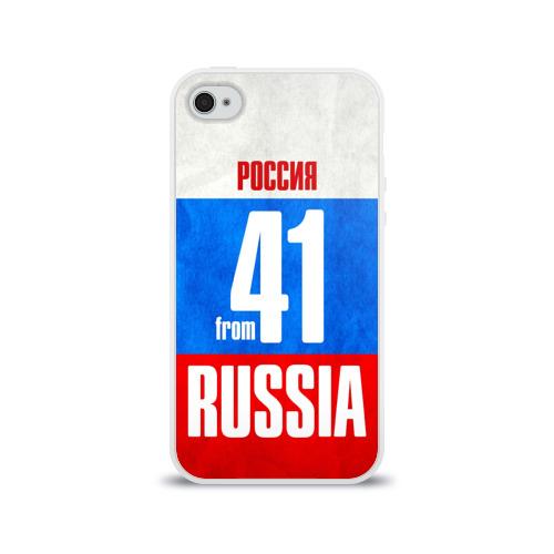 Чехол для Apple iPhone 4/4S силиконовый глянцевый Russia (from 41) Фото 01