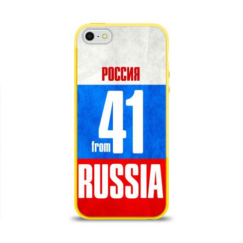 Чехол для Apple iPhone 5/5S силиконовый глянцевый Russia (from 41) Фото 01