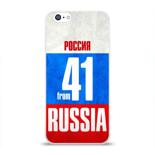 Чехол для Apple iPhone 6 силиконовый глянцевый Russia (from 41) Фото 01