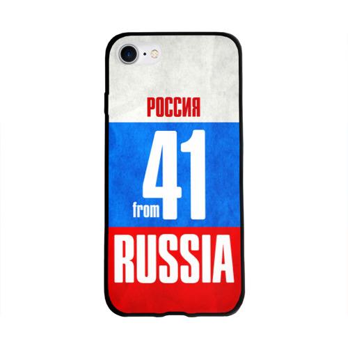 Чехол для Apple iPhone 8 силиконовый глянцевый Russia (from 41) Фото 01