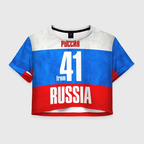 Женская футболка Crop-top 3D Russia (from 41) Фото 01